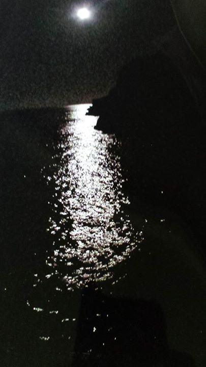 moon on the water at Tolaga Bay